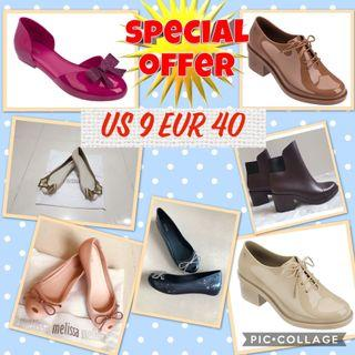 $5 off promotion for Melissa shoes US 9 Eur 40 in stock
