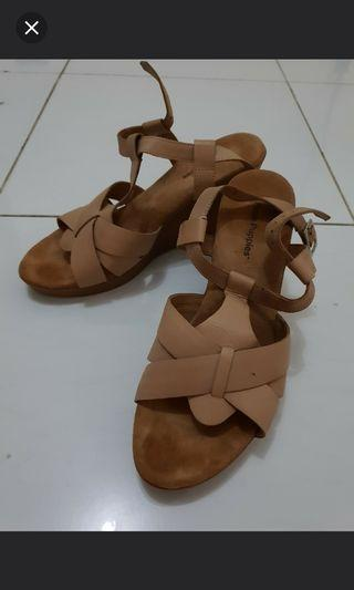 Nude Wedges Hush Puppies