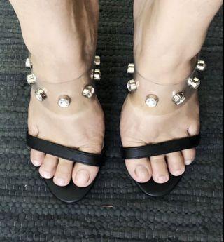 Diamondate slip-on heels