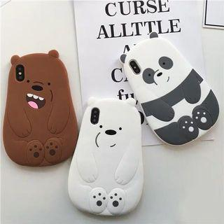 🚚 PO We Bare Bears Iphone Silicone Soft Casing