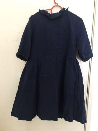 Loose navy blue dress