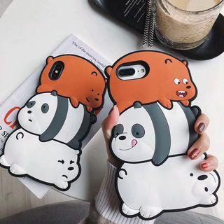 🚚 PO We Bare Bears iPhone Soft Silicone Casing