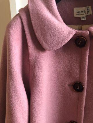 Dusty pink cape style coat jacket