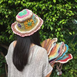 民族尼泊爾棉麻草帽