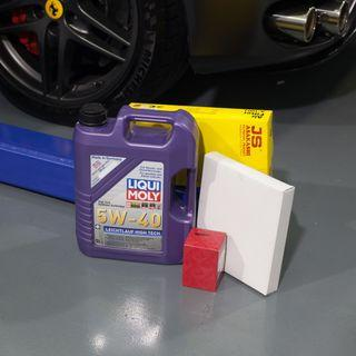 LIQUI MOLY AUTHORISED WORKSHOP- FREE AIR FILTER AND AIRCON FILTER