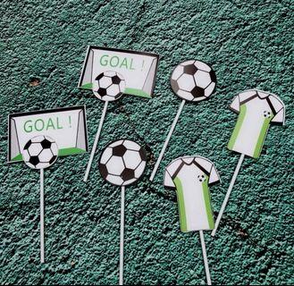 Soccer Cake Topper (6 pieces)