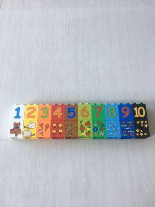 Numbers & Pictures Blocks (1-10)