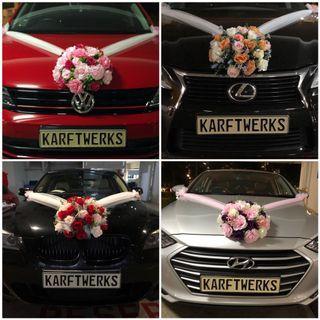 [KarftWerks SIMPLISTIC Package] Wedding/Bridal Car Flower Decoration ~ Wedding/Bridal Car Flower Deco