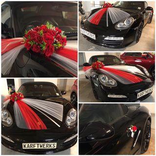 [KarftWerks MAJESTIC package] Wedding/Bridal Car Flower Decoration ~ Wedding/Bridal Car Flower Deco