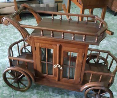 Wooden display cart