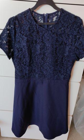 Zalora half lace dress