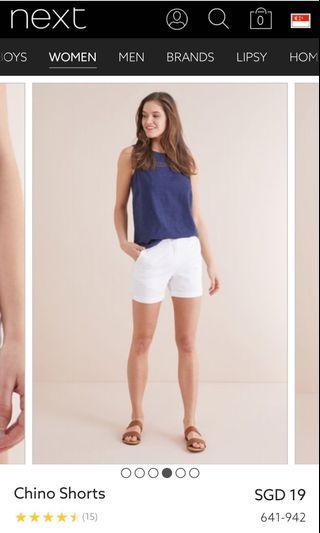 🚚 New white shorts size M
