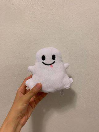 Snapchat ghost plushie