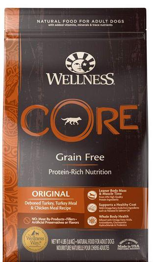 4 lbs Wellness Core Natural Grain-Free Dry Dog Food