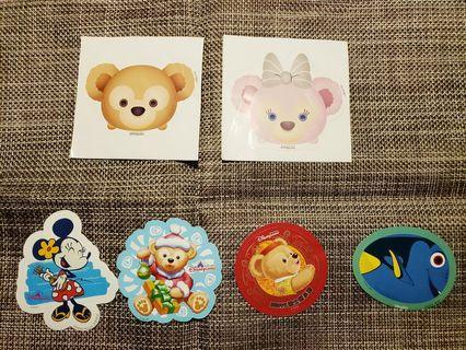 迪士尼Duffy, Shellie May, Minnie, 多莉貼紙及閃卡