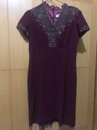 Mini Dress Aksen Brokat