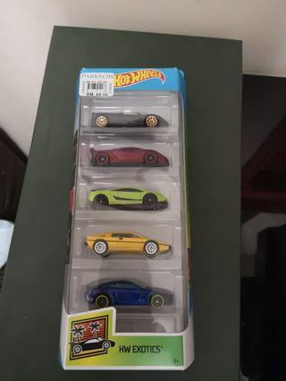 Hotwheels 5 pack exotics car