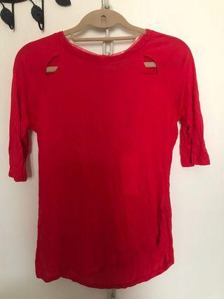 UK Karen Millen red top