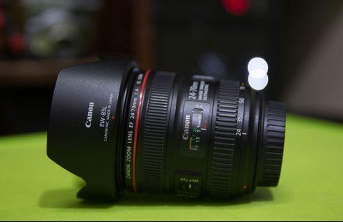 Canon 24-70mm f4 IS USM Lens (CMP) Pristine condition.