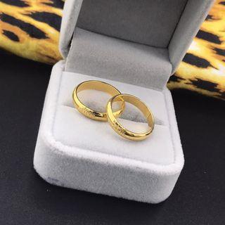 24k gp plain ring