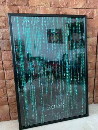 Matrix Trilogy Posters - original cinema posters with frames