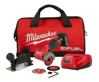 """美國空運到港milwaukee (全新貨) M12 FUEL 3"""" Compact Cut Off Tool (Bare Tool) 3吋無刷磨機套装4.0電池和充電器, 配三隻原裝碟無塵套裝"""