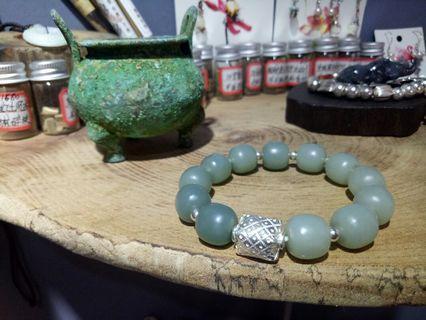 和田且末藍純銀手環