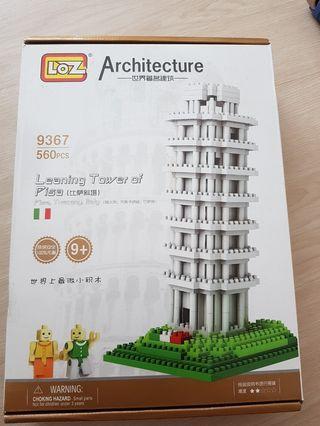 🚚 BNIB leaning tower of pisa mini blocks