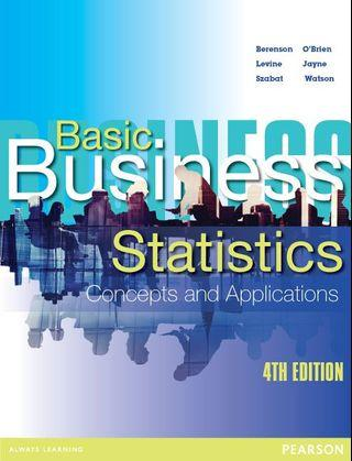 Basic Business Statistics (Concept and Applications) 4th Edition
