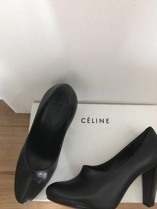 Celine black leather pumps high heals 黑色真皮高跟鞋shoes size 36 brand new