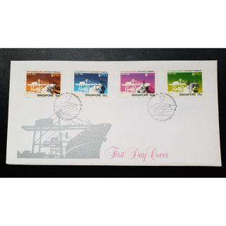 """1982 Singapore First Day Cover - """"10th Anniversary of Container Terminal"""""""