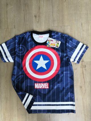 Captain America Marvel TShirt Original FullPrint MultiColour