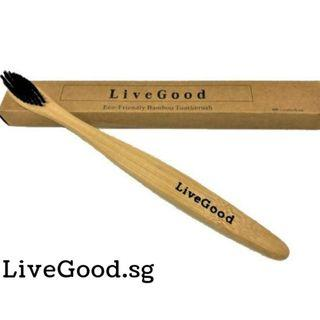 🚚 4 PCS Eco-Friendly Bamboo Toothbrush - Charcoal Infused (Soft Bristle)