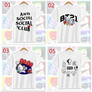 Lime friends bts bt21 shirts