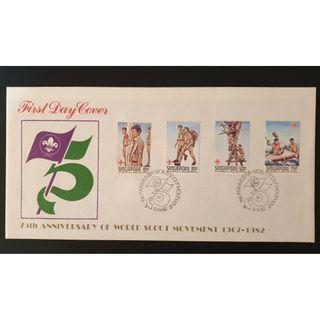 """1982 Singapore First Day Cover - """"75 Anniversary World Scout Movement"""""""