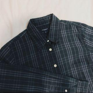 Authentic Vintage Burberry Collared Button-Down Plaid Flannel
