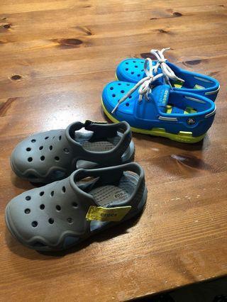 專櫃正品 CROCS 布希膠鞋 小童便鞋/水陸兩用便鞋