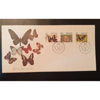 """1982 Singapore First Day Cover - """"Butterflies - Special Stamp Issue"""""""