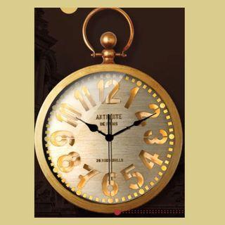 #典雅風格LED燈掛牆鐘      Elegant Style Wall Clock With LED Light