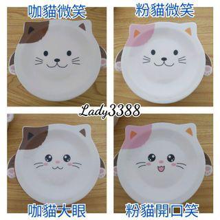 700ml喵咪泡麵碗盤組 贈叉子湯匙筷子 W156
