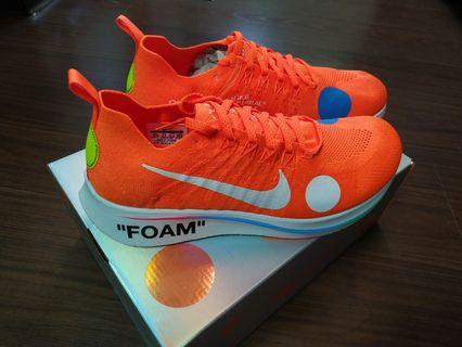 🚚 OFF WHITE X NIKE zoomfly mercurial flyknit (US10.5)
