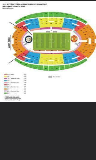 Last 4! Price Reduced! Cat1 ICC Manchester United vs Inter Milan Cat 1 tickets