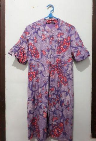 Dress Batik Ungu Eprise