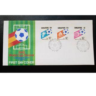 """1982 Singapore First Day Cover - """"1982 World Cup Soccer"""""""