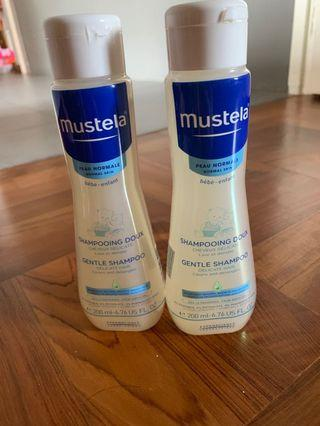 🚚 Mustela gentle shampoo 200ml x2 bottles