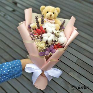 🚚 Graduation Bouquet Joy | Dried Bouquet | Bear Bouquet