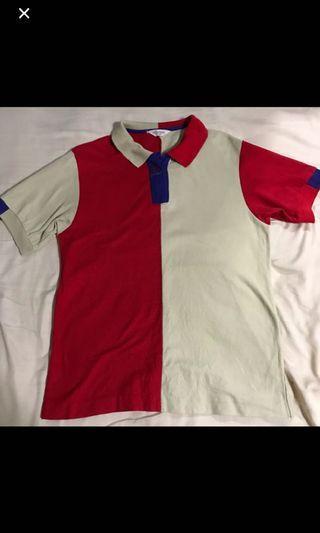 Vintage ellese colorblock polo