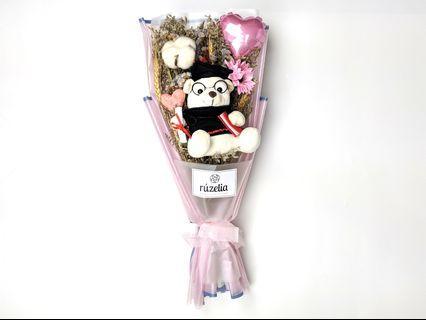 🚚 Beary Proud Plushie Bouquet | Graduation | Dried Bouquet