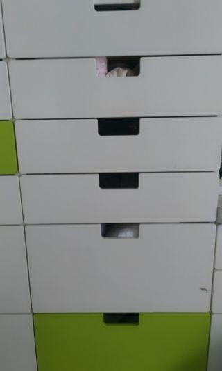 Ikea 6  drawers set for sale x 2 .. can be in full white
