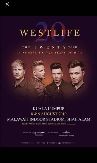 LOOKING FOR 2 WESTLIFE TIX